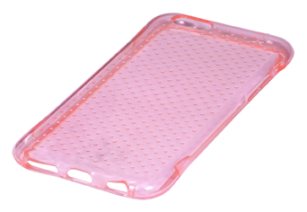 Coque TPU slim iPhone 6/6S transparente uni perl rose (photo)