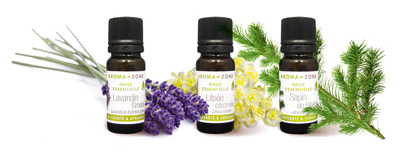3 Huiles essentielles BE YOU+AROMAZONE BY-HE3LSL -lavandin,litsee, sapin. (photo)
