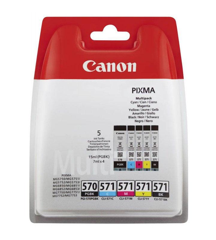 MultiPack CANON PGI-570 CLI-571 5 Couleurs