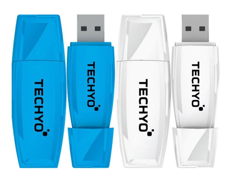 CLE USB TECHYO Pack 2 x 8GB