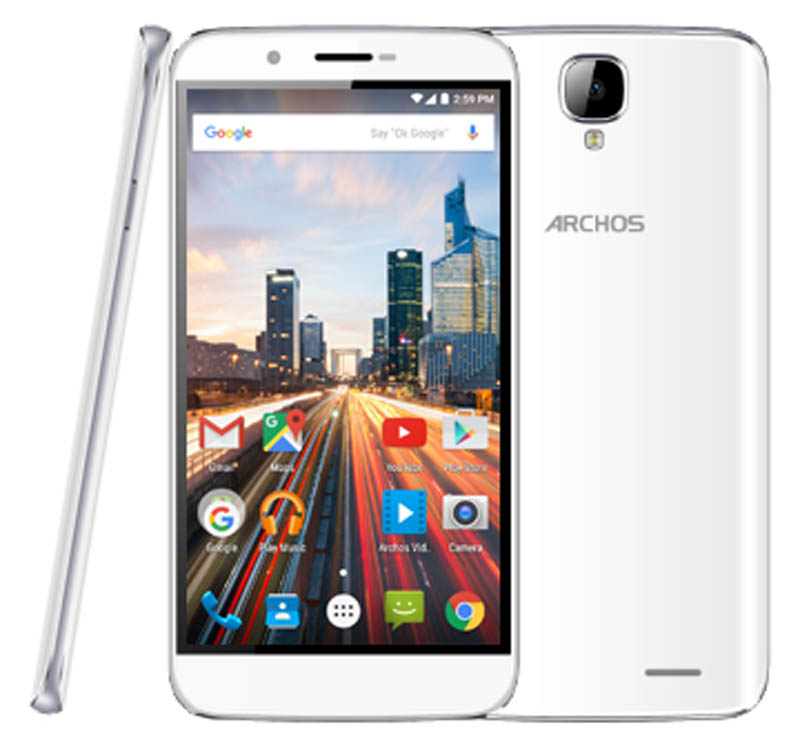 Smartphone ARCHOS 55 Helium 4G blanc (photo)