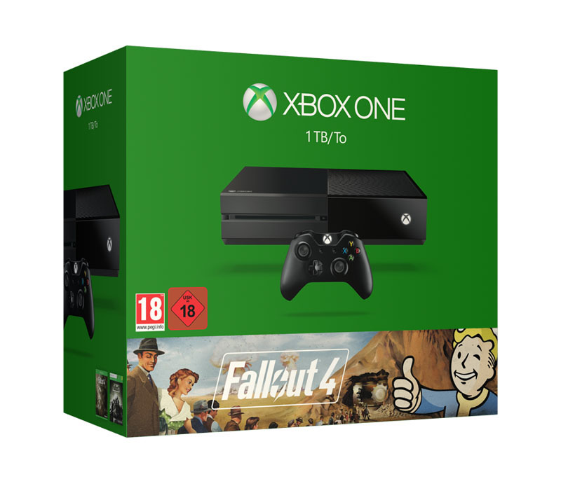 Console de jeux MICROSOFT XBox One black 1 To + Jeu Fall out 3 et 4