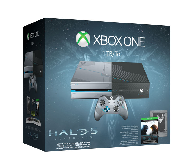 Console de jeux microsoft xbox one edition collector 1 to + jeu halo 5 guardians