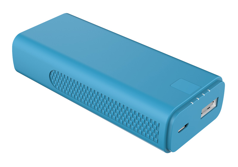 Batterie de secours ON.EARZ 4000mAh 2.1A bleue