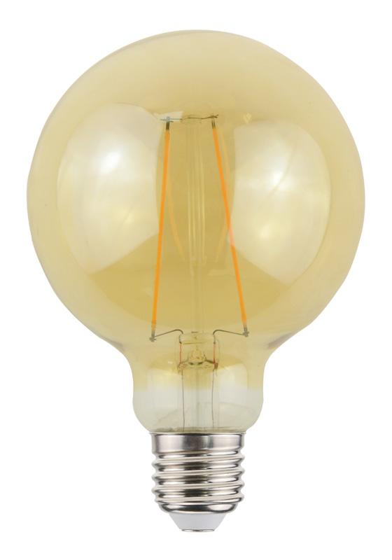 Ampoule BEWELL Vintage Globe E27 Diamètre 95mm (photo)