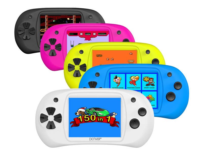 Console de jeux portable DENVER Gamepad 150 jeux (Choix du coloris uniquement en magasin)