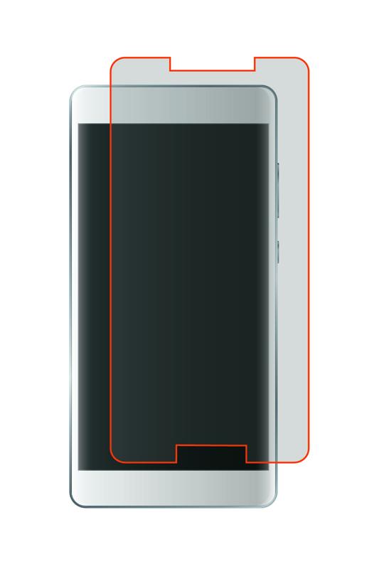 Film de Protection TECHYO en verre trempe 2.5D pour smartphone 5.3 - 5.5