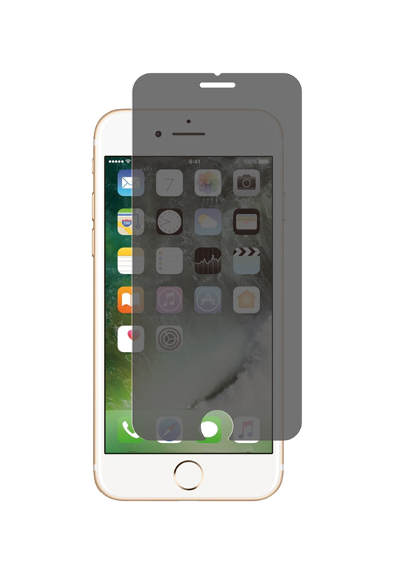 Film de Protection TECHYO en verre trempe anti-espion iPhone 6/6s (photo)