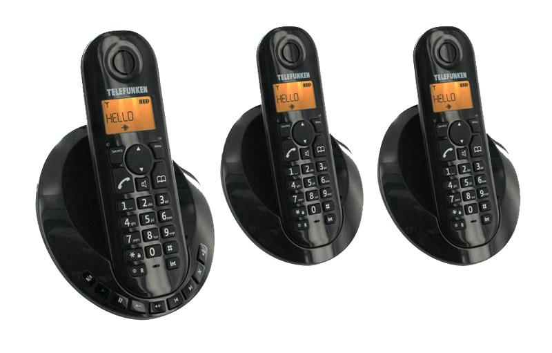 Telephone Repondeur TELEFUNKEN TB253 Peps Trio Noir