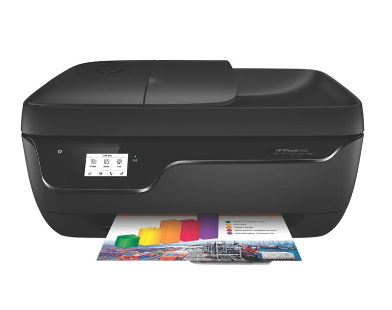 Imprimante Multifonction HP Office Jet 3833 noir (photo)