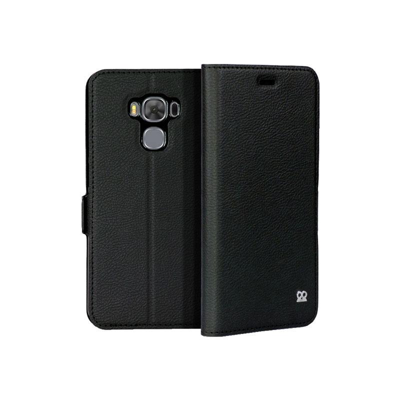 Folio IBROZ premium noir pour mobile ASUS ZenFone 3 Max ZC553KL