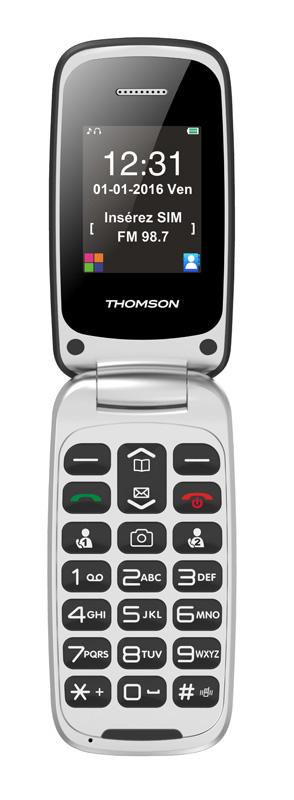 Mobile à clapet THOMSON Serea 61 blanc + noir