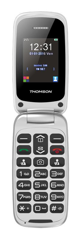 Mobile à clapet THOMSON Serea 61 blanc + base