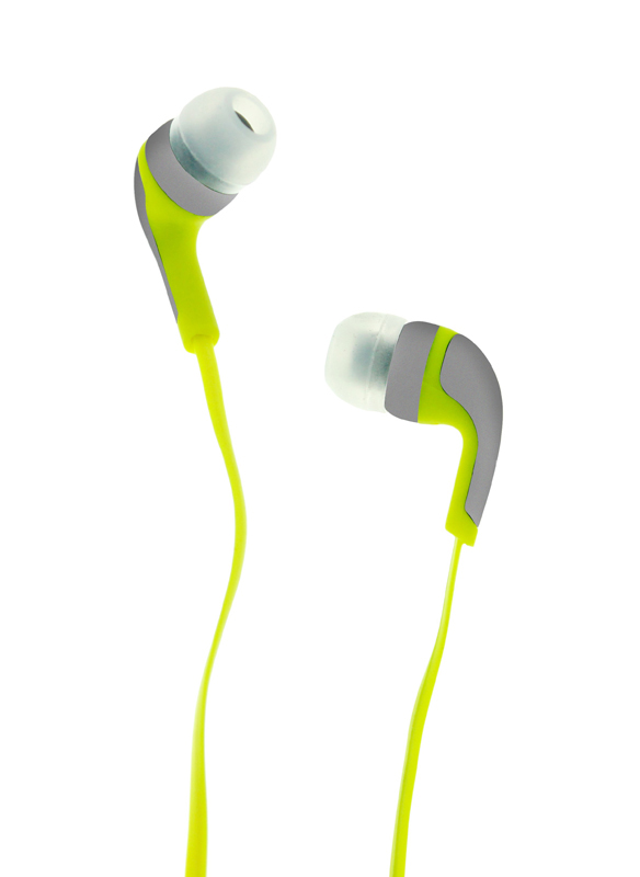 Ecouteurs R-MUSIC intra-auriculaires gris/jaune
