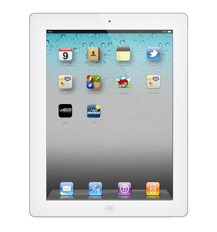 APPLE iPad 4 Wi-Fi 16 go blanc reconditionne grade A+ (photo)