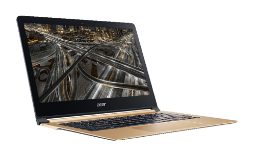 Ordinateur ultra portable 13,3 ACER Swift7 edition gold NX GK6EF