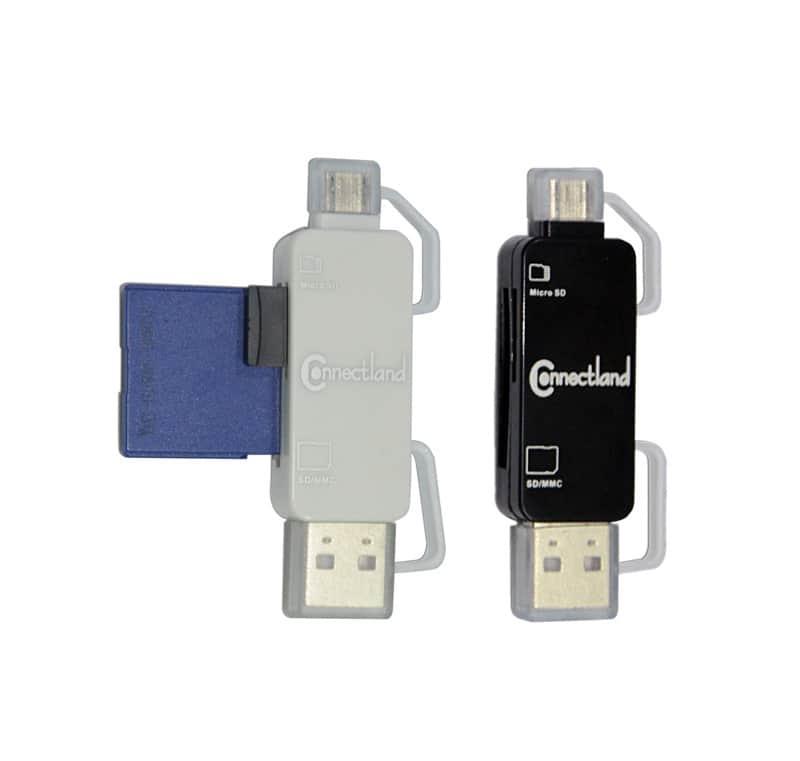 Lecteur Connectland Gc-809 Usb/micro Usb Pour Carte Micro-sd (coloris Aléatoire)