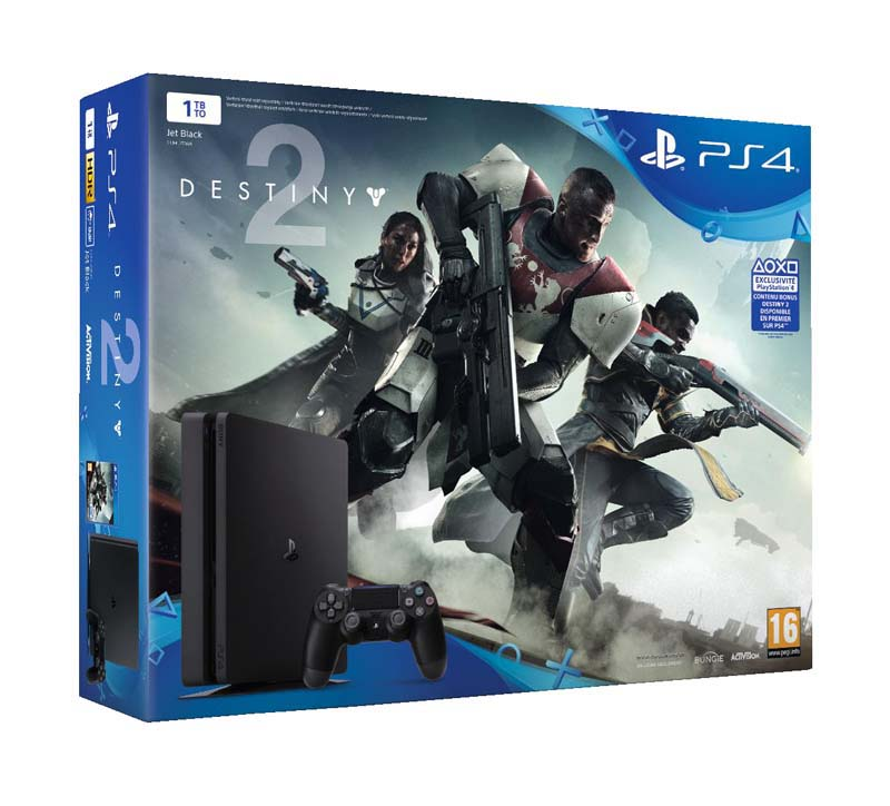Console de jeux ps4 slim 1to + destiny 2