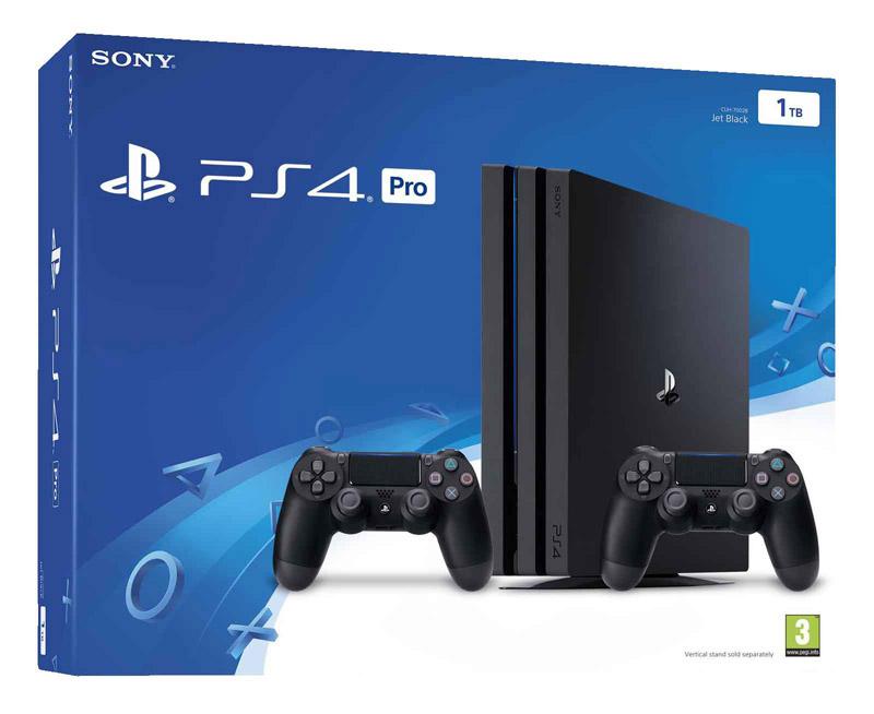 Console de jeu PS4 Pro 1 To + 2 Manettes + Jeu «QUI ES-TU?>