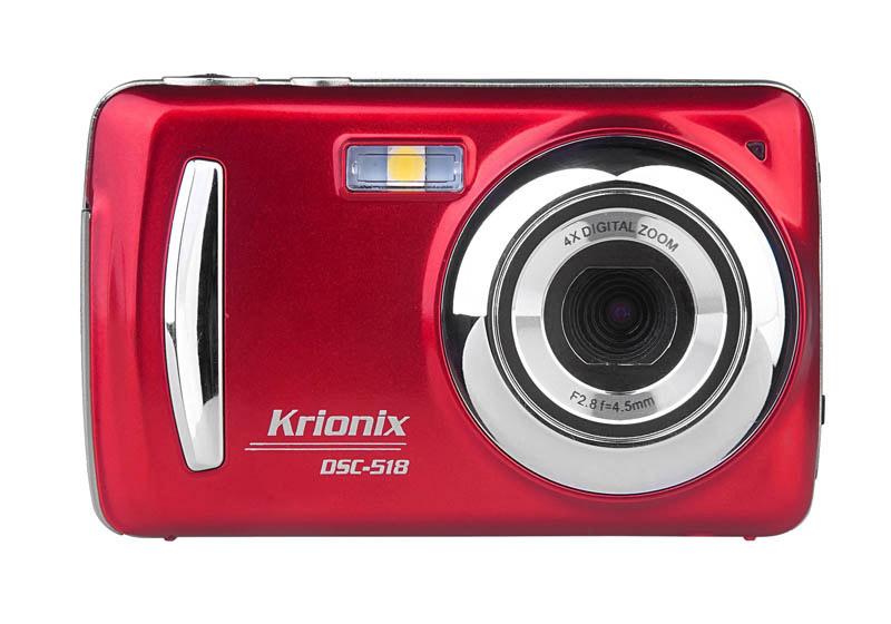 Appareil photo numerique compact KRIONIX DSC-518 Rouge