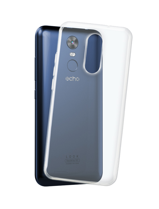 Coque ECHO ORIGINE TPU transparent Look (photo)
