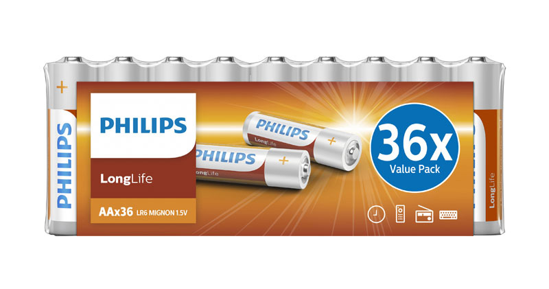 Piles PHILIPS LR06 Longlife AA (photo)