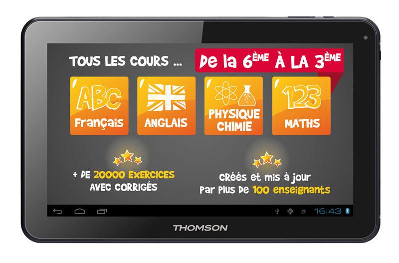 Tablette educative 10 THOMSON TEO 16 go niveau collège