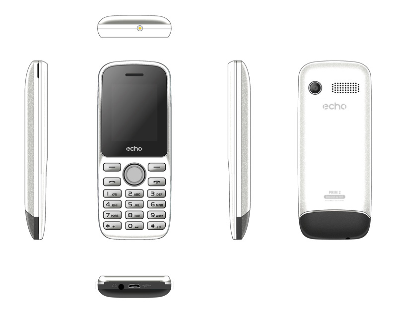 Mobile ECHO Prim2 1,77 dualsim blanc (photo)