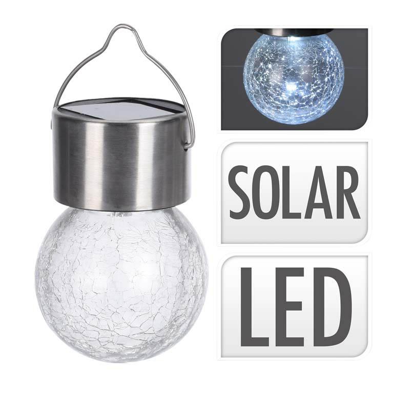 Lampe Solaire boule à suspendre D6cm (photo)