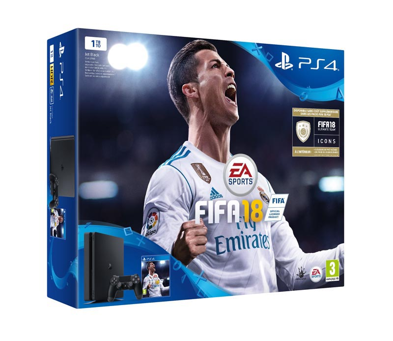 Console de jeux sony ps4 slim 1 to + fifa 18