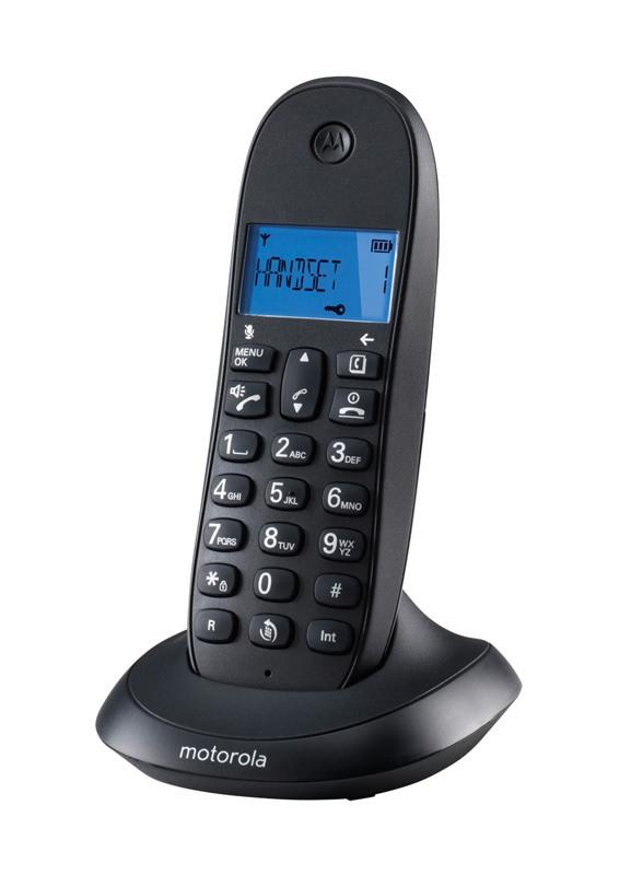 Telephone Solo MOTOROLA C1001LB+ Noir Mains Libres