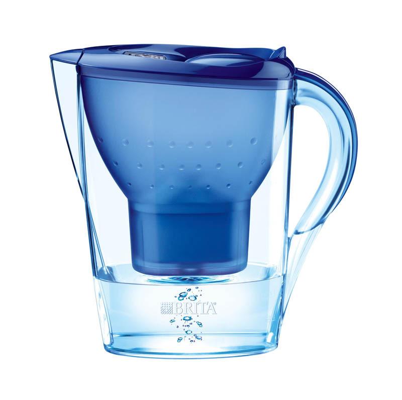 Carafe BRITA Marella Bleue + 2 cartouches (photo)