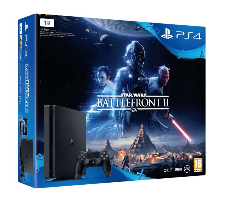 Console de jeux ps4 slim 1 to star wars battlefront 2