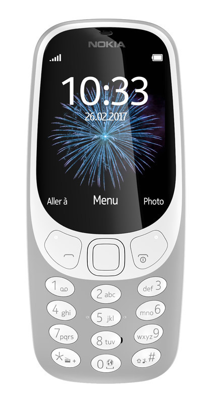 Mobile NOKIA 3310 Gris (photo)