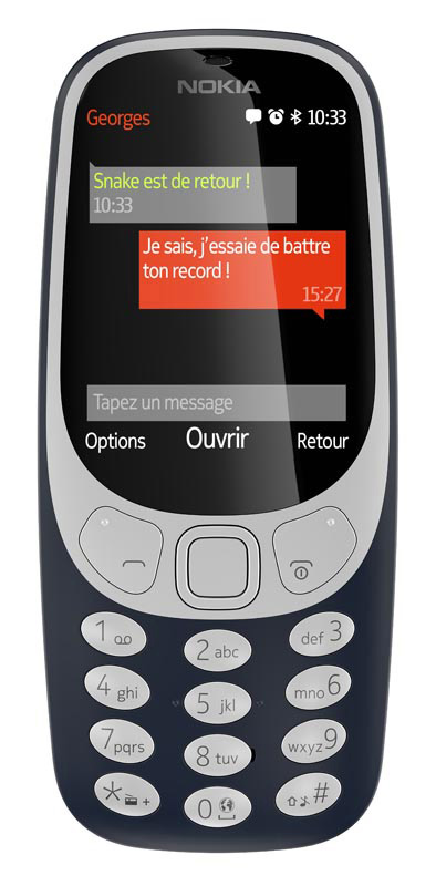 Mobile NOKIA 3310 Bleu nuit (photo)