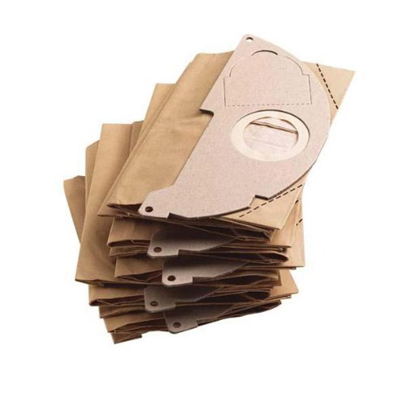 Lot de 5 Sacs aspirateur cuve KARCHER Papier pour aspirateur cuve WD2/ WD 2200 / 2250 / A 2003 / 2004 / 2054 Me (photo)