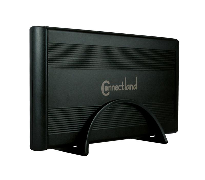 Boîtier CONNECTLAND 3,5 SATA USB 3.0 noir