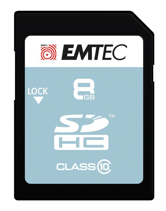 Carte SD 8 GO EMTEC Class 10