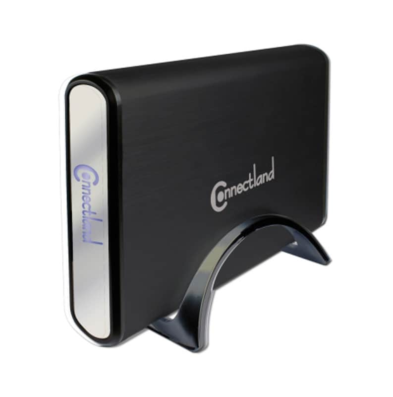 Boîtier pour disque dur 3,5 CONNECTLAND SATA USB3.0 noir (photo)