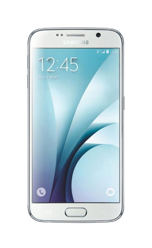 Smartphone SAMSUNG GALAXY s6 32 Go blanc reconditionne grade A+