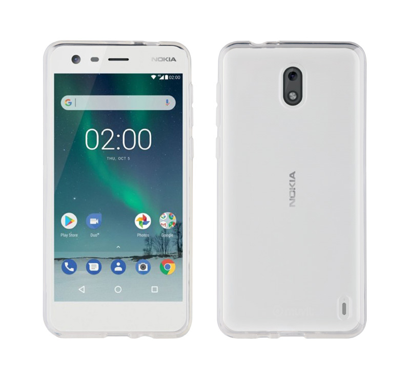 Coque transparente MUVIT CRYSTAL NOKIA 2 (photo)