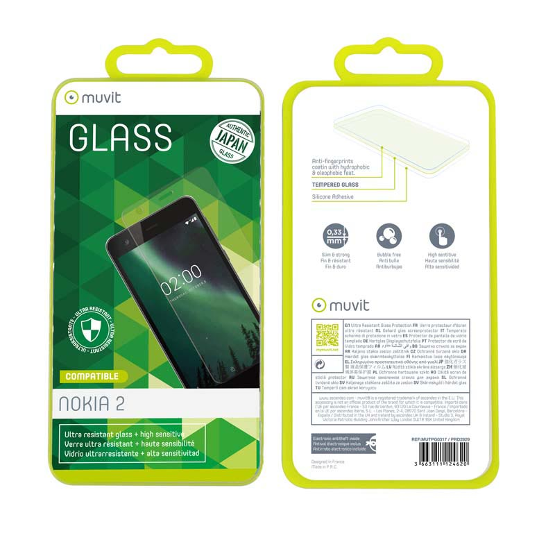 Film de Protection en verre trempe MUVIT NOKIA 2