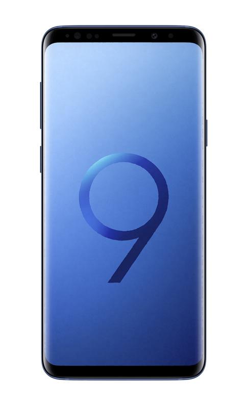Smartphone SAMSUNG GALAXY S9+ QuadHD+ IP68 bleu corail (photo)