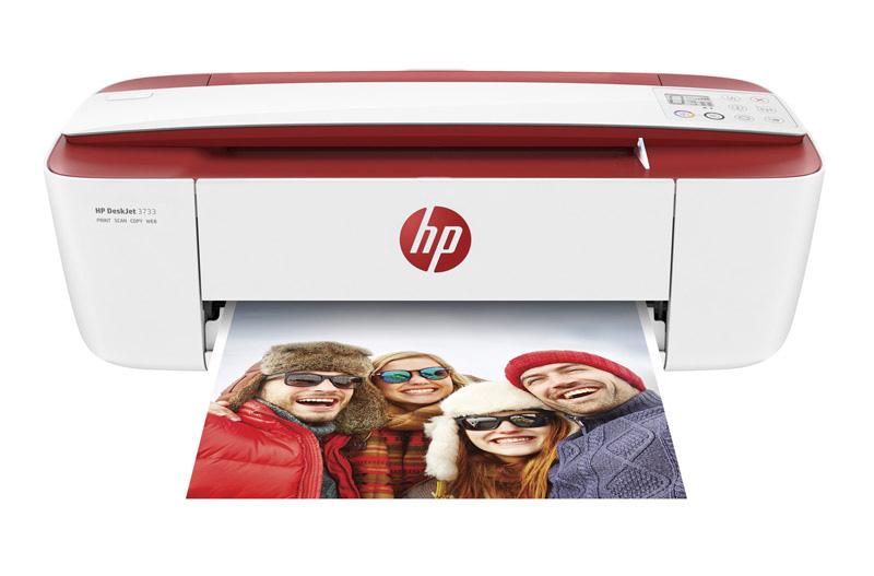 Imprimante multifonction HP Deskjet 3733 rouge
