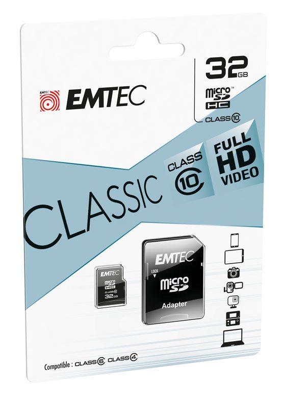 Carte Micro SD EMTEC 32 Go class 10 (photo)
