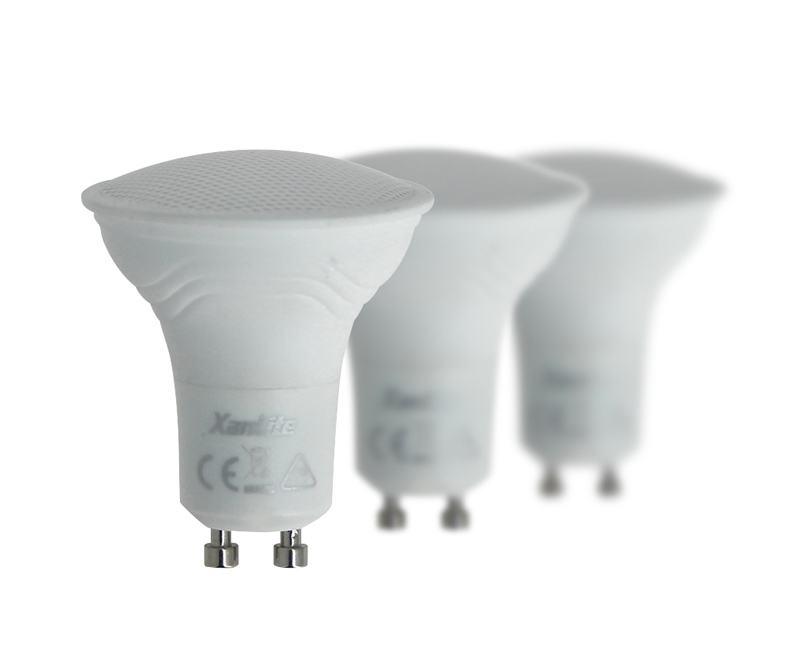 AMPOULE XANLITE PACK 3 ampoules LED culot GU10 (photo)