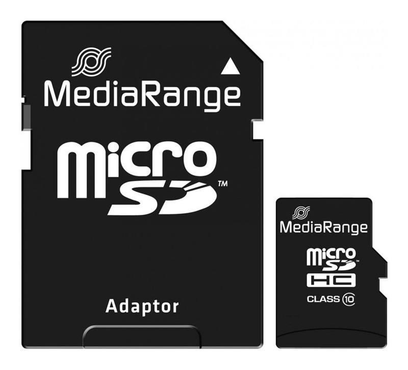 Carte micro-SD 16 go MEDIA-RANGE class 10 (photo)