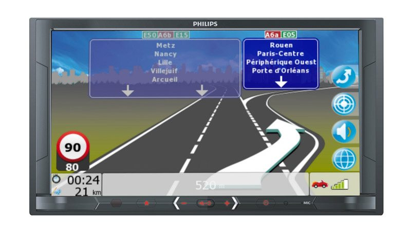 Autoradio PHILIPS CE600 GPS (photo)