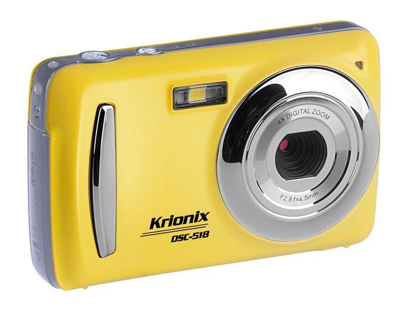 Appareil photo numerique compact KRIONIX DSC-518 jaune (photo)