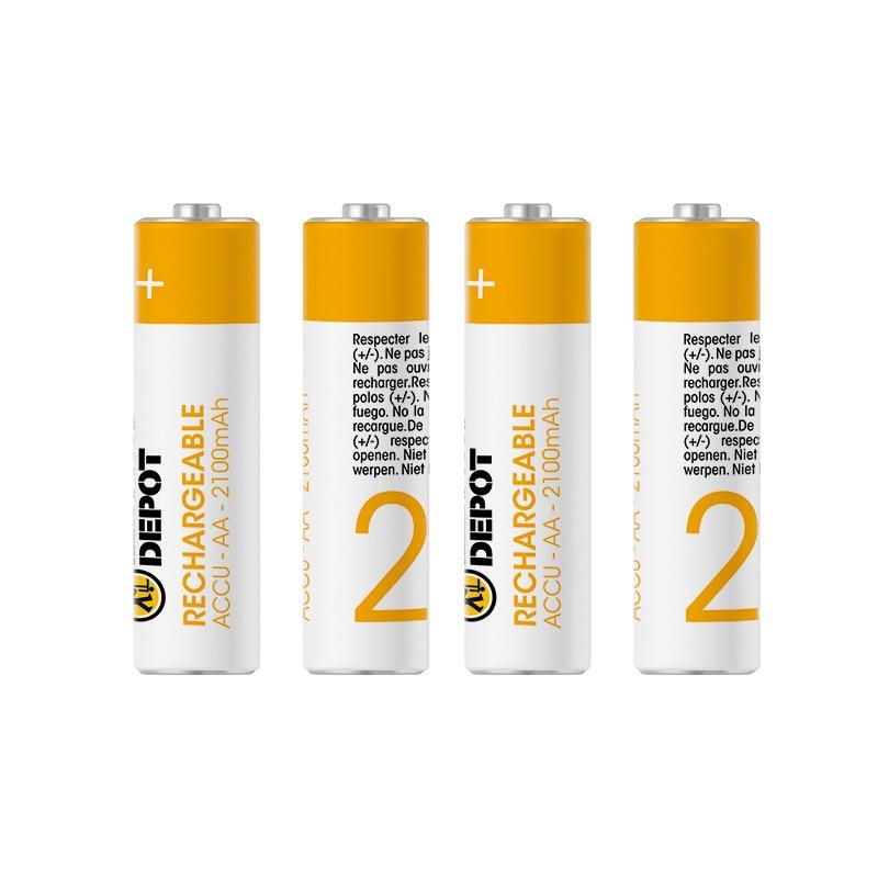 Piles rechargeables ELECTRO DÉPÔT AA - LR06 2100MAH X4 (photo)